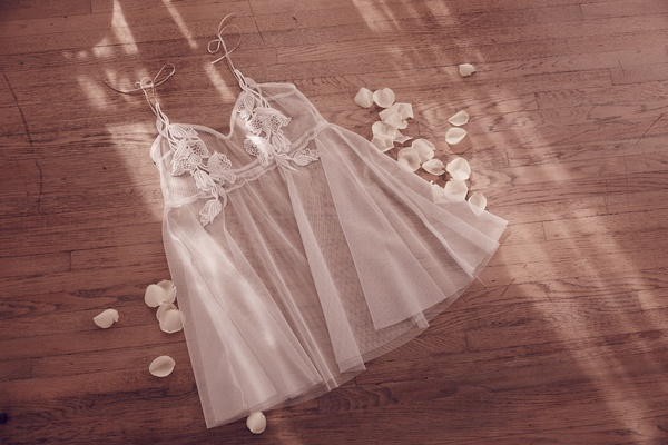 For Love & Lemons tulle slip with floral details
