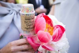 eco friendly confetti wedding guests favors grand exit from vow exchange bridesmaid groomsmen earth