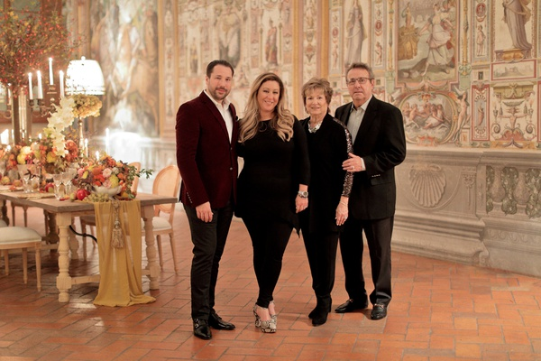 anniversary dinner celebration with parents in florence italy