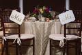 gilt simple chair sinage new couple dayton ohio wedding reception clean style decor wood