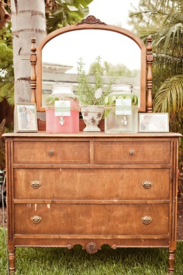Vintage vanity drawers and lemonade