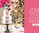 ways to personalize your wedding, make your wedding unique