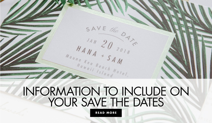 information to include on your save the date cards