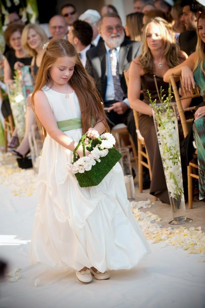 7306a1ce3d Flower Girls   Ring Bearers Photos - Pick-Up Skirt Flower Girl Dress ...