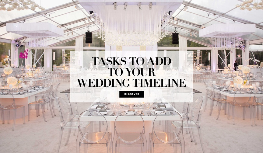 what unexpected tasks to add to your wedding timeline