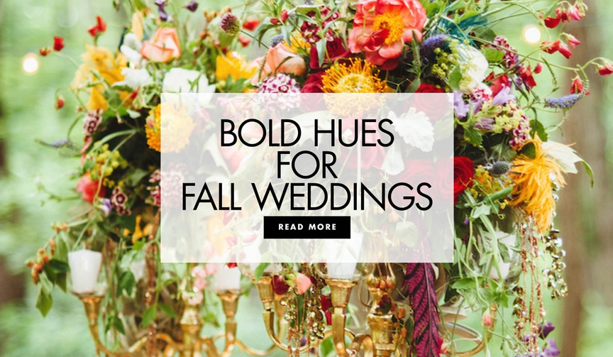 Bold hues for fall weddings inspirational wedding decor in autumnal palettes