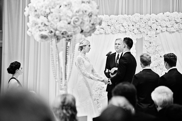 rob refsnyder of new york yankees exchanging vows with bride at The Drake Hotel