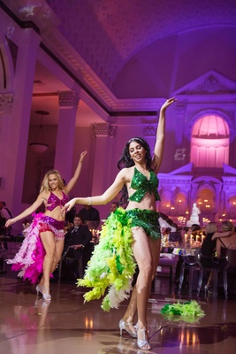 Brazilian dancer performers at Vibiana wedding in Los Angeles