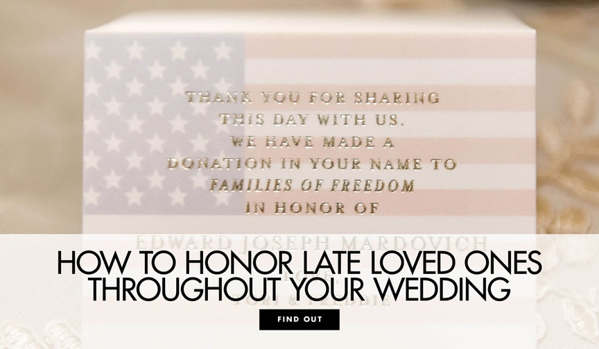 How to honor late loved ones throughout your wedding to honor those who have passed away