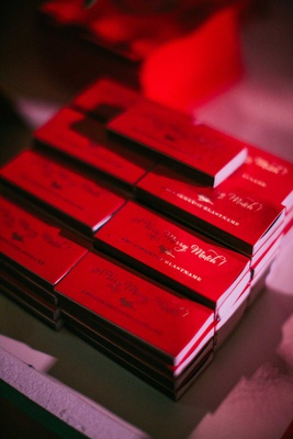 wedding reception match boxes red a very merry match with wedding hashtag