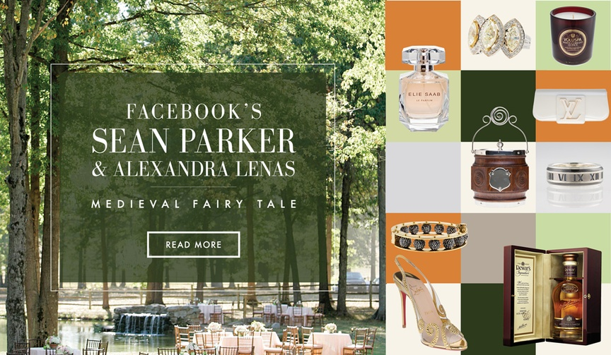 Sean Parker and Alexandra Lenas forest wedding inspiration
