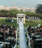 Bel-Air Bay Club outdoor wedding ceremony