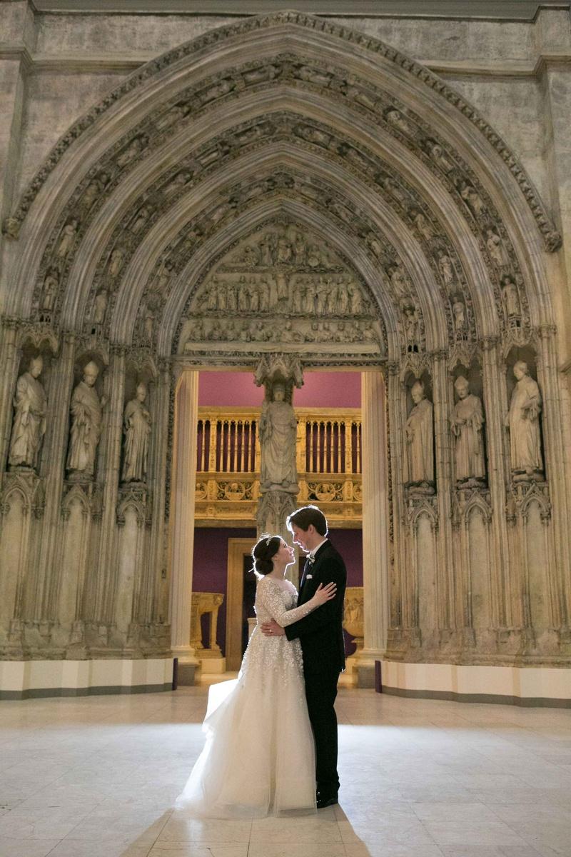 newlyweds embracing roman catholic church pittsburgh pa liancarlo wedding dress religious ceremony