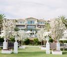Montage Laguna Beach lawn wedding ceremony