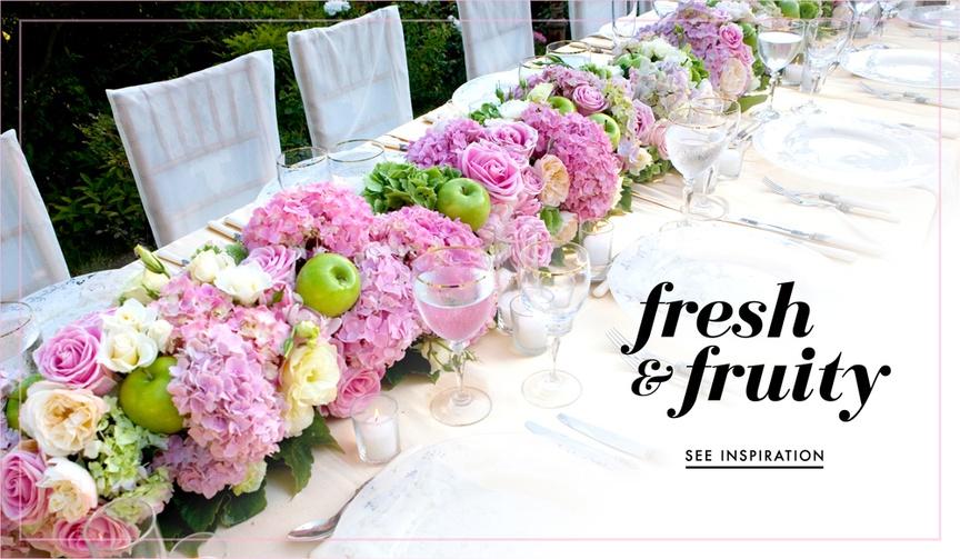 Wedding ideas for fresh fruit in centerpiece designs