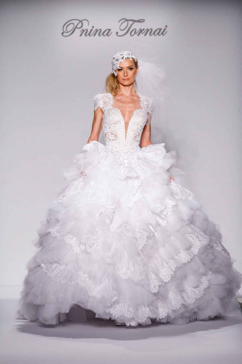 Pnina Tornai for Kleinfeld 2016 Decennie lace and tulle ball gown