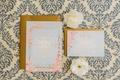 Wedding invitation Claire Pettibone for Wedding Paper Divas invitation suite reply card and invite