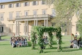 wedding ceremony florence italy villa estate venue outdoor ceremony destination wedding