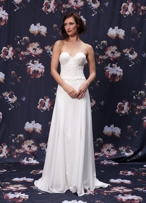 Two piece bustier wedding dress by Ivy and Aster fall 2016