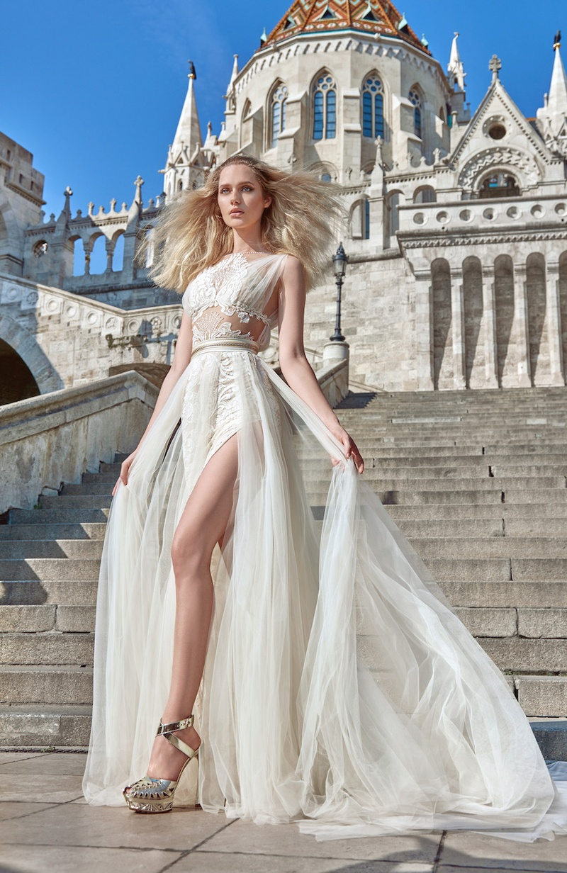 Wedding dresses photos flavia by galia lahav inside weddings galia lahav fall 2016 grecian wedding dress with illusion details and slit junglespirit Image collections