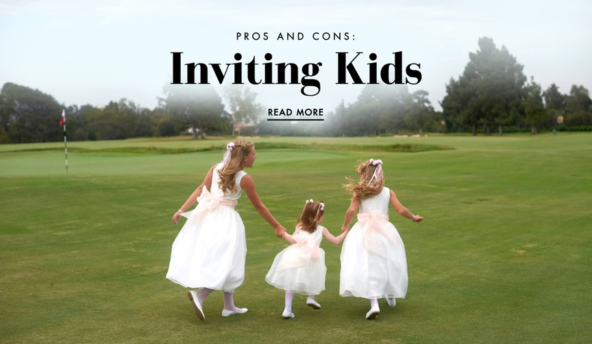 Should you invite your guests' kids to your wedding?