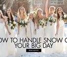 how to handle snow on your big day dealing with a snow storm on your wedding