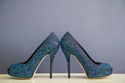Something blue sparkling Gucci bridal heels