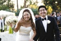 Asian American bride and groom