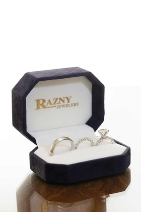 Men's band, eternity band, and solitaire ring