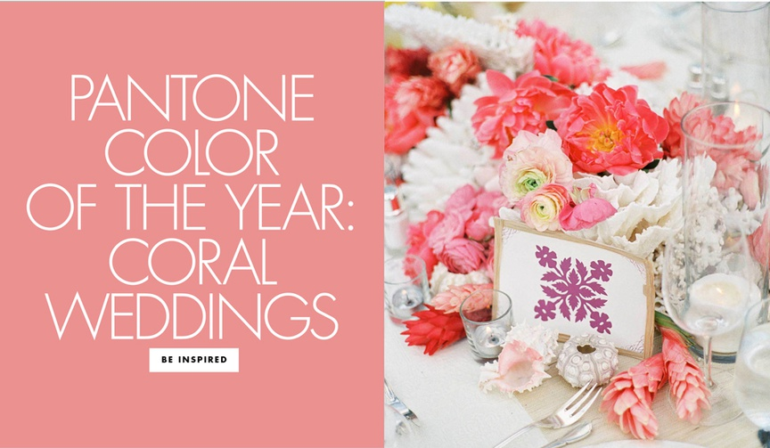 pantone color of the year 2019 living coral wedding ideas