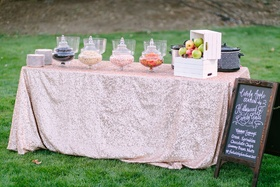 candy apple station rustic chic wedding professional event outdoors california sweets unique