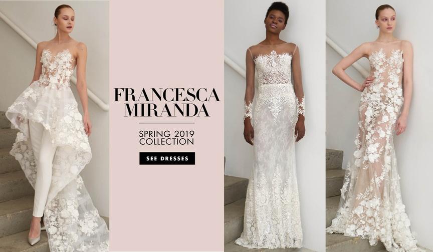 Francesca Miranda Spring 2019 bridal collection wedding dresses