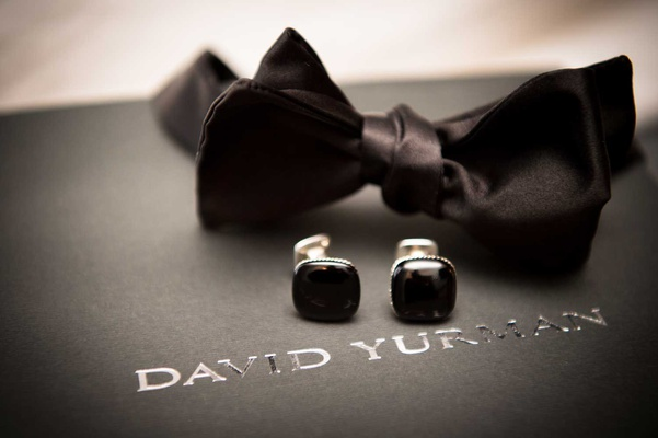 wedding accessories for groom david yurman black bow tie and cufflinks