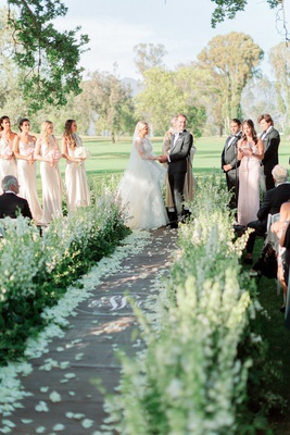 outdoor wedding ceremony at ojai valley inn & spa with no backdrop