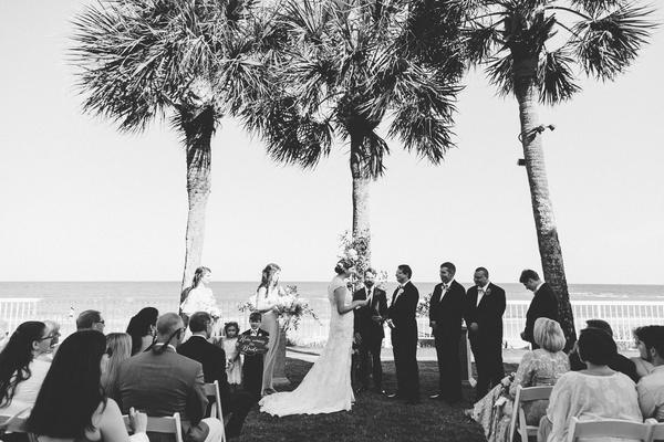 Outdoor Beach Wedding Ceremony + Classic Reception in Georgia ...
