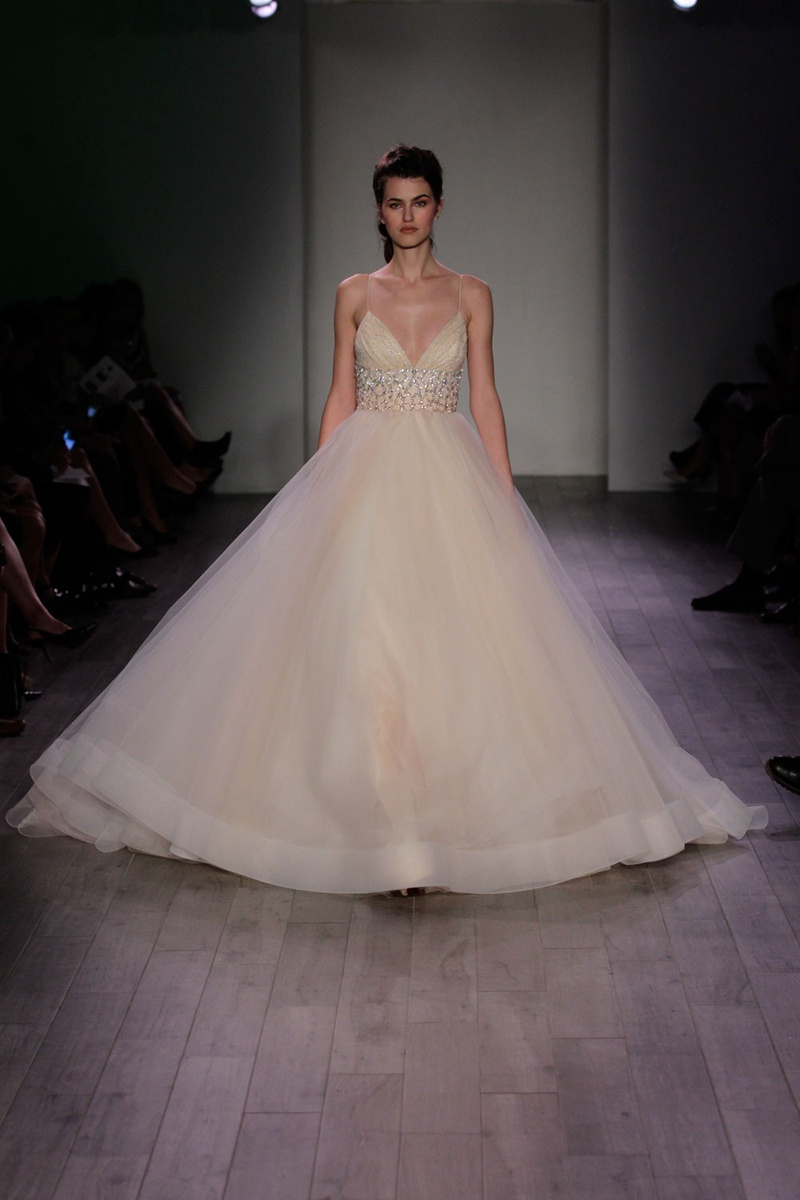 Wedding Dresses Photos - V-Neck Ball Gown by Lazaro 2016 - Inside ...