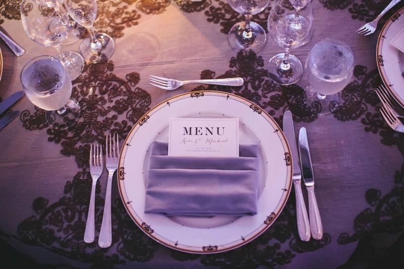 Ritz Carlton Dc Dinner Menu In Napkin Place Setting