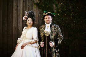 halloween wedding attire bride and groom makeup costumes halloween wedding