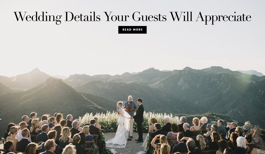 little wedding details your guests will love