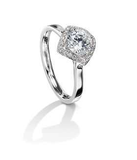 Furrer Jacot 53-66680-1-W platinum engagement ring