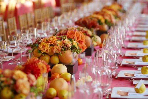 Lemon Orange And Grapefruit Wedding Decorations