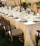 Rectangular outdoor brunch table