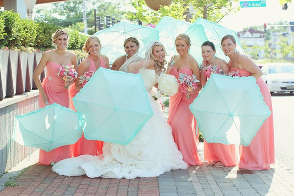 629bca2797f7 A Bright & Modern Summer Wedding with Mint + Coral Details - Inside ...