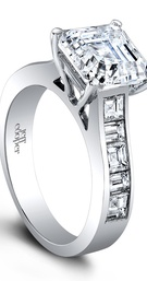 (ring 1.35ct ttl) Think Big. The Carly Engagement Set is a clean & classic channel set design. By al