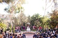 southern california outdoor courtyard wedding, same-sex lesbian wedding