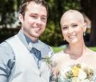 Jen Bulik lung cancer wedding with groom