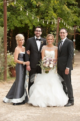 Silver two-toned mother-of-the-bride dress