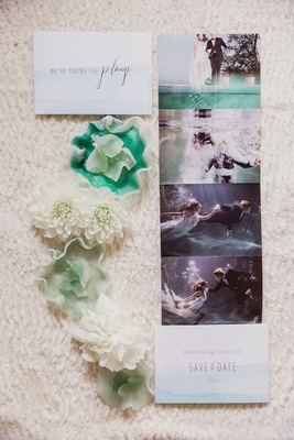 underwater photo shoot for engagement pictures and save the dates