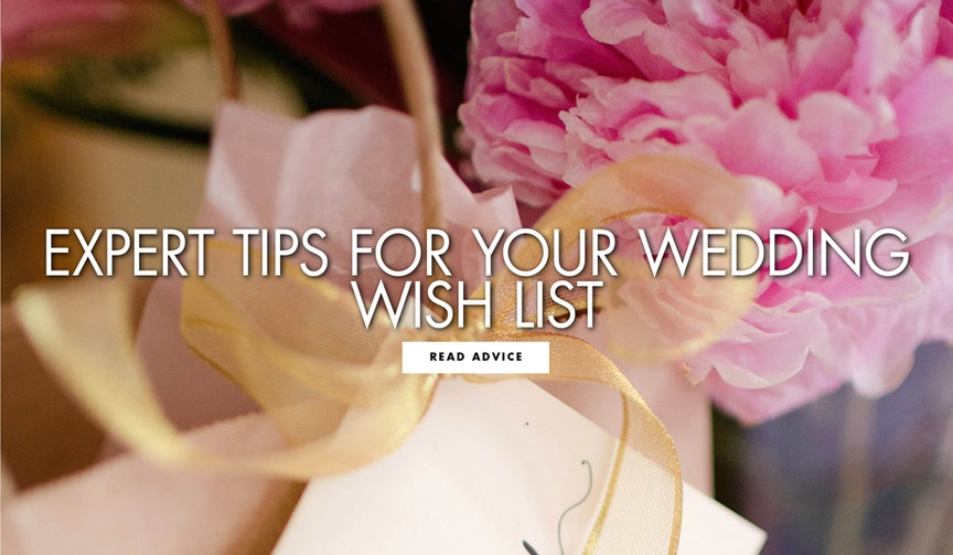 expert tips for your wedding registry and wish list from gearys