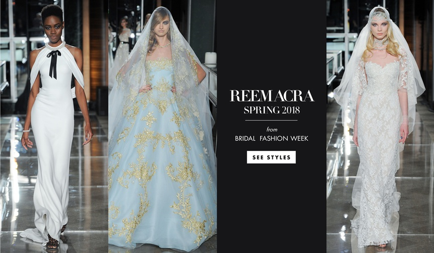 reem acra spring 2018 collection tiffany inspired wedding gowns dresses designer